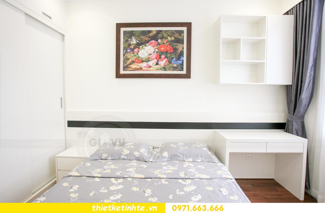 thi công nội thất chung cư 2 phòng ngủ thực tế nhà anh nam 19