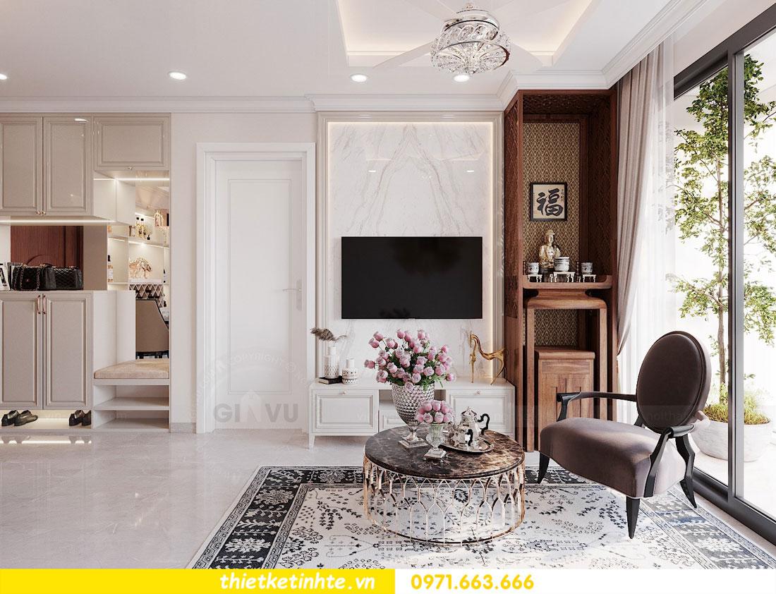 thiết kế nội thất chung cư 60m2 với 2 phòng ngủ anh Tuấn 01