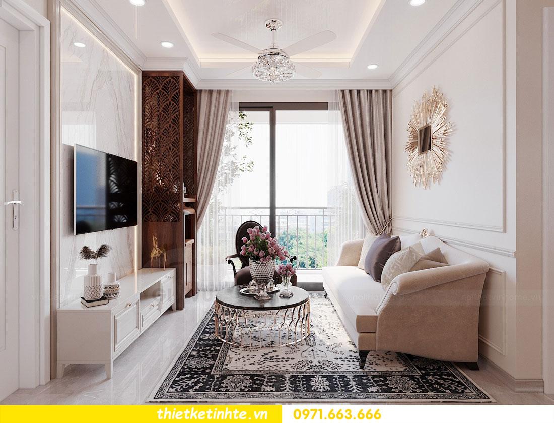 thiết kế nội thất chung cư 60m2 với 2 phòng ngủ anh Tuấn 02