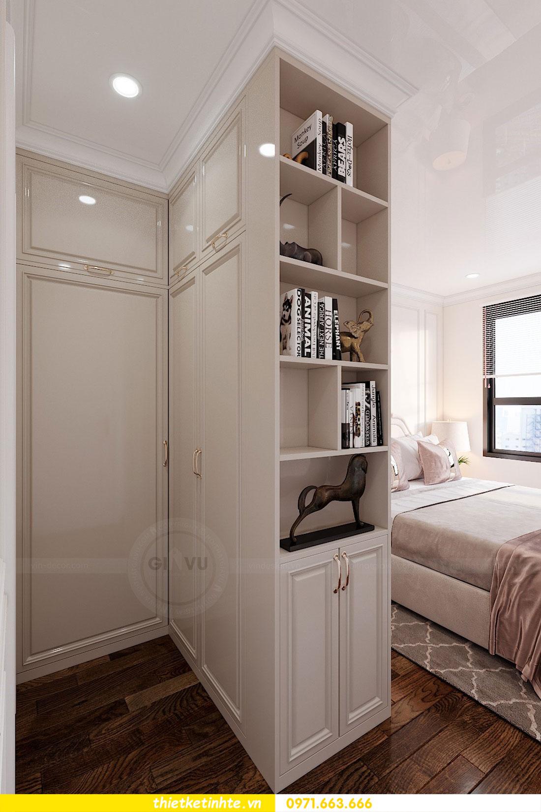 thiết kế nội thất chung cư 60m2 với 2 phòng ngủ anh Tuấn 07