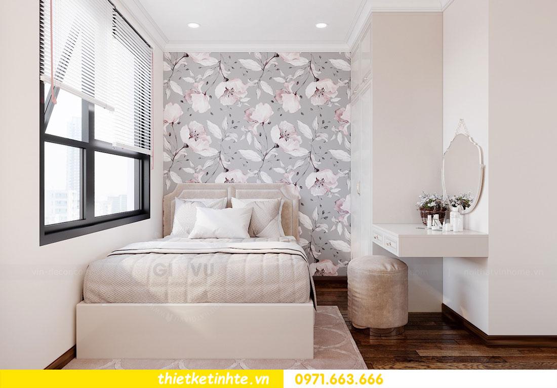 thiết kế nội thất chung cư 60m2 với 2 phòng ngủ anh Tuấn 08