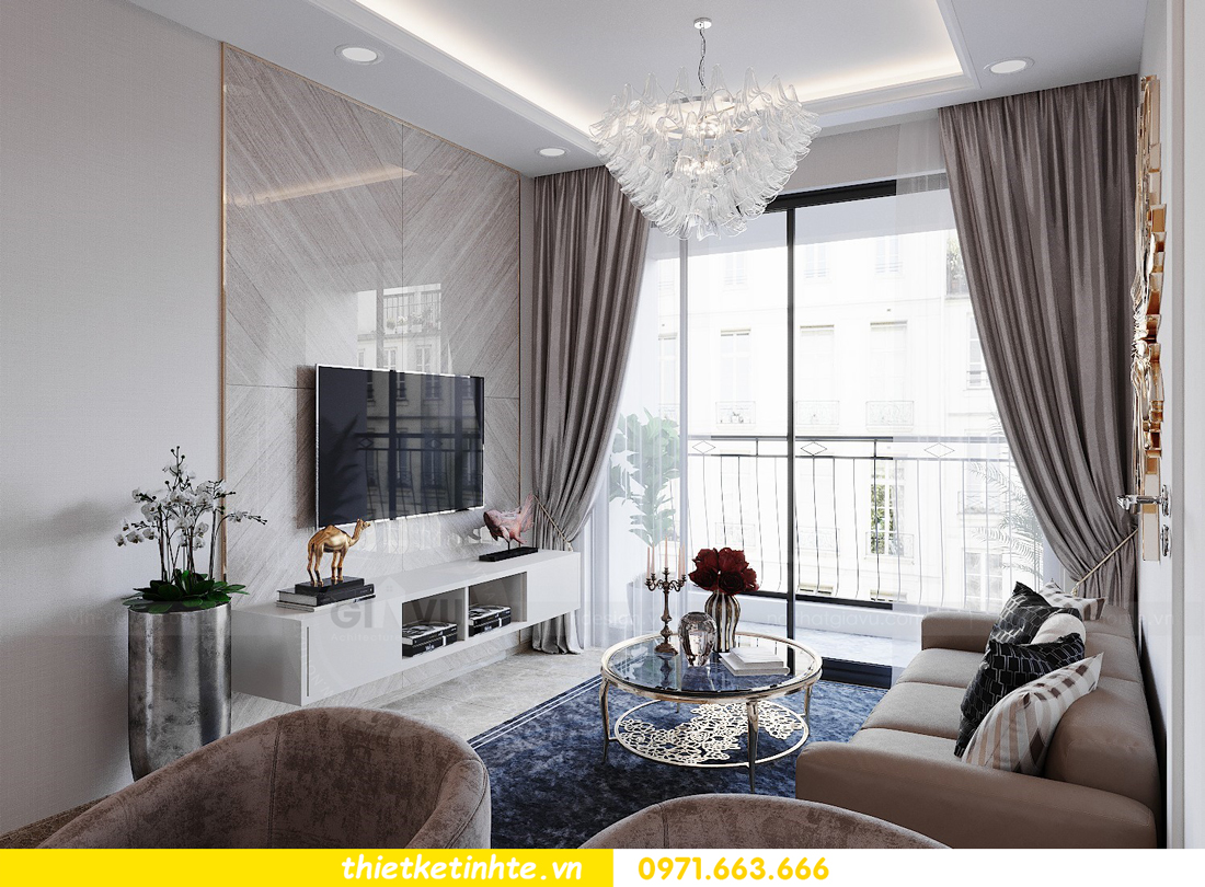 thiết kế nội thất căn hộ 72m2 tại chung cư DCapitale 05