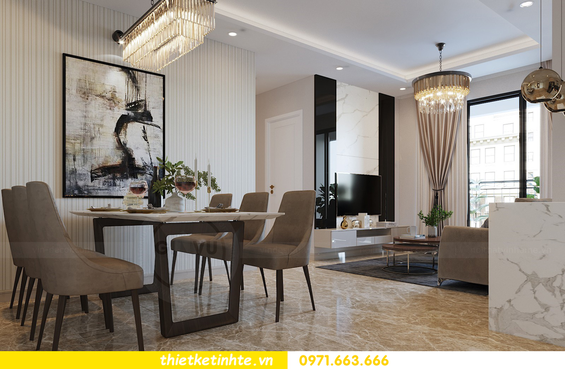 thiết kế nội thất căn hộ 90m2 tại chung cư DCapitale 02