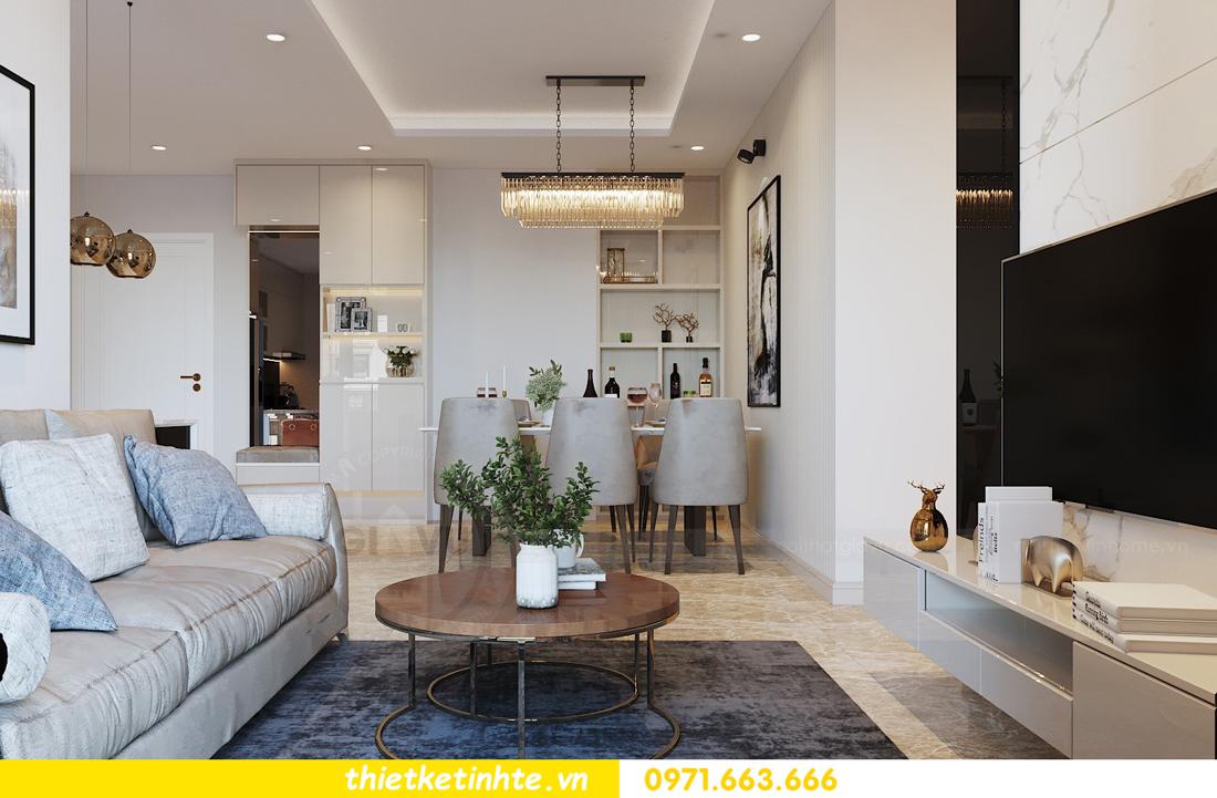thiết kế nội thất căn hộ 90m2 tại chung cư DCapitale 04