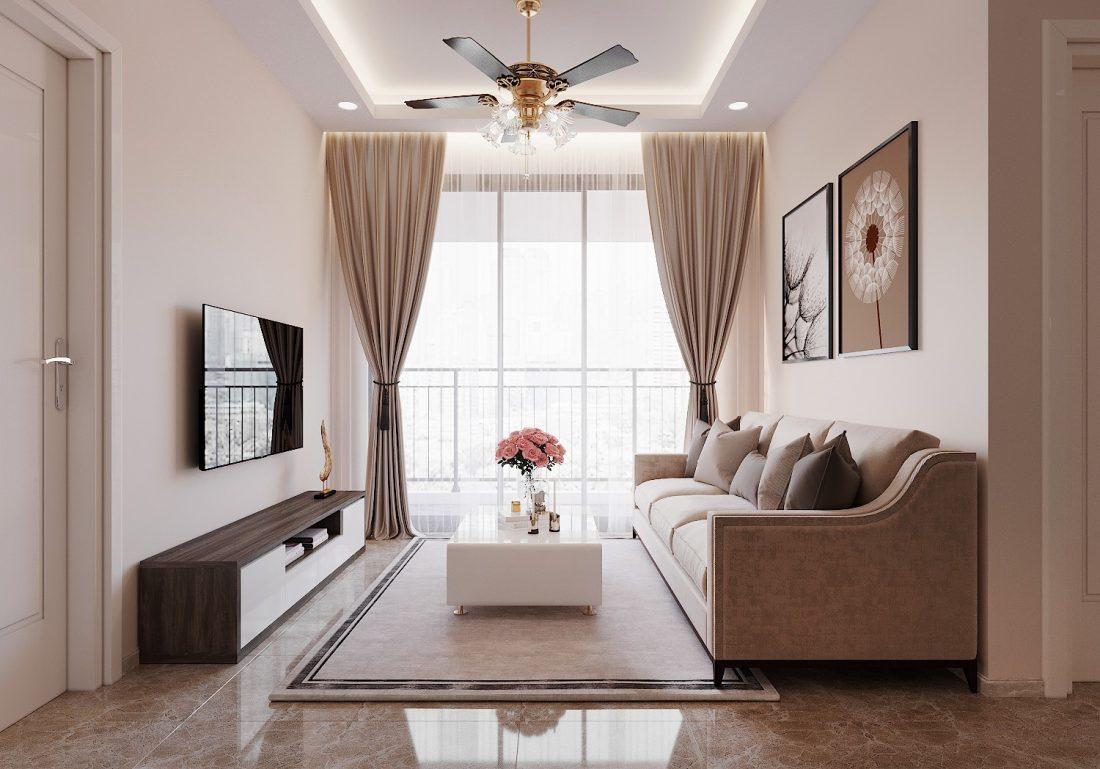 Mẫu nội thất chung cư đơn giản, nhẹ nhàng mà hiện đại
