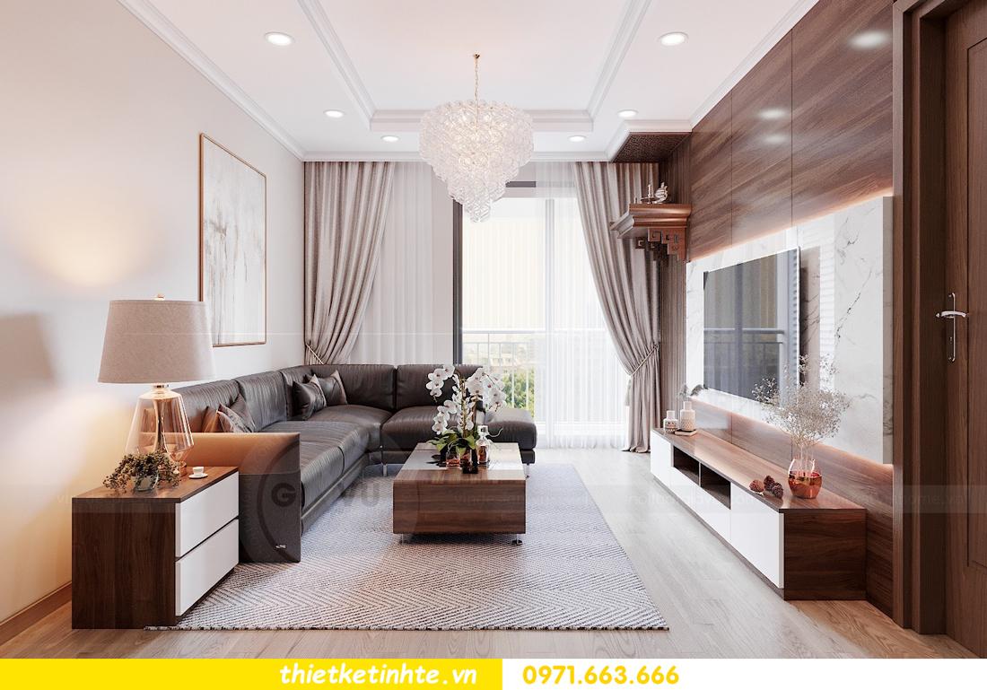 thiết kế nội thất chung cư Vinhomes Park Hill tòa P10 căn 09 3