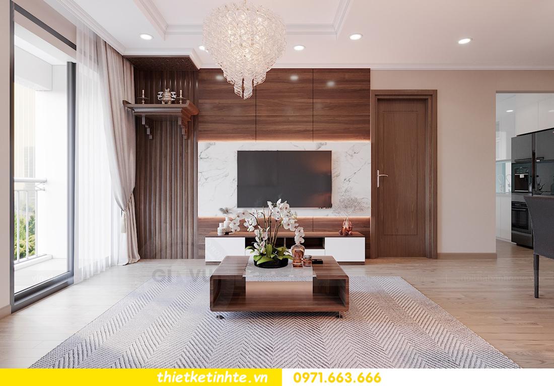 thiết kế nội thất chung cư Vinhomes Park Hill tòa P10 căn 09 4