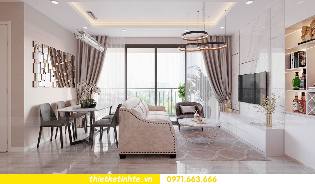 ý tưởng thiết kế nội thất hay cho căn hộ chung cư 3 phòng ngủ 03