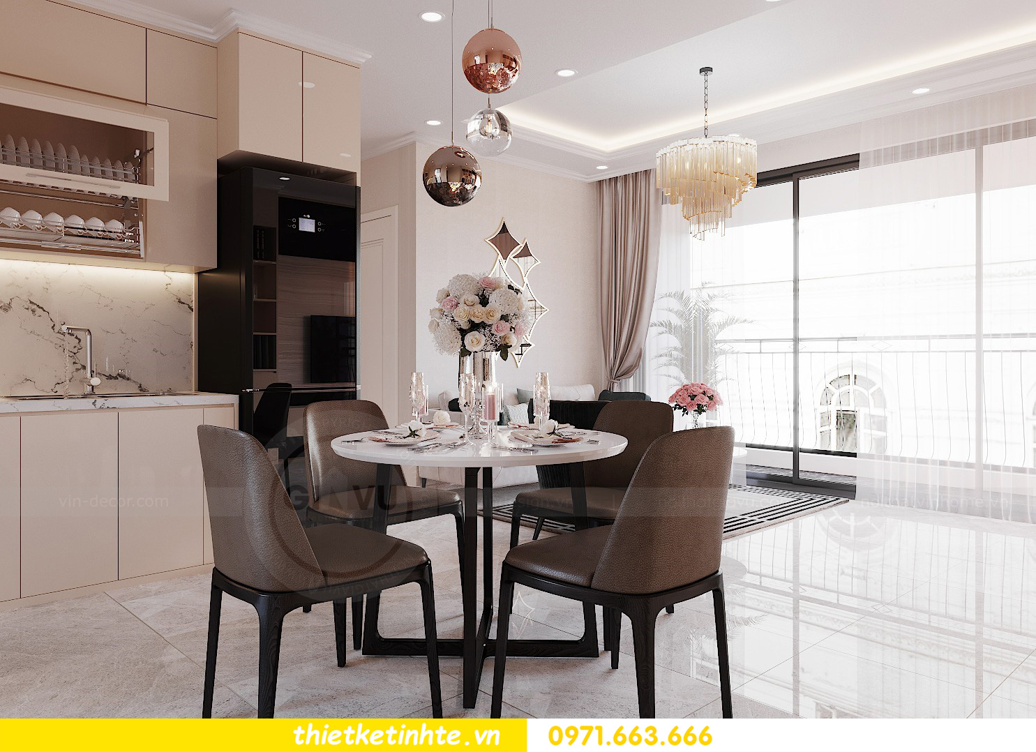 mẫu thiết kế nội thất chung cư West Point căn hộ 3 phòng ngủ 03