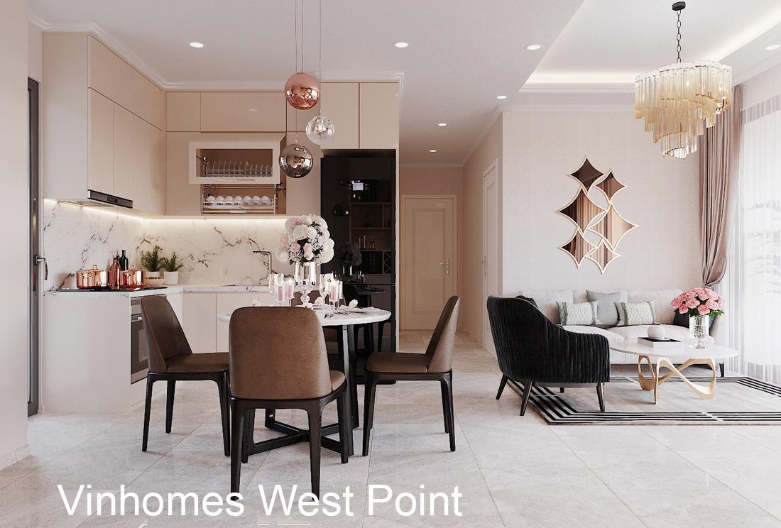Mẫu thiết kế nội thất chung cư West Point căn hộ 3 phòng ngủ