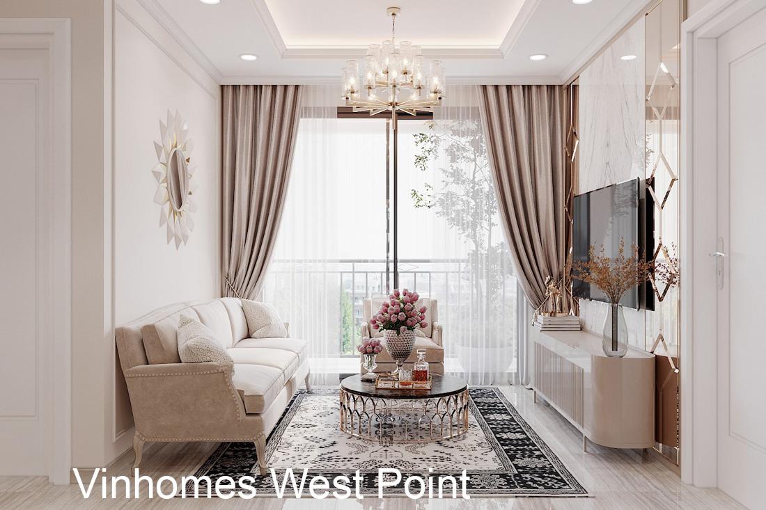 Thiết kế nội thất căn hộ chung cư West Point căn 2 phòng ngủ