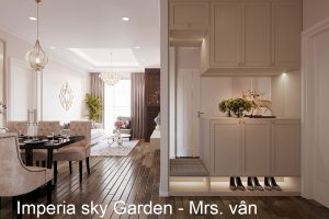 Thiết Kế Nội Thất Chung Cư Imperia Sky Garden Nhà Chị Vân