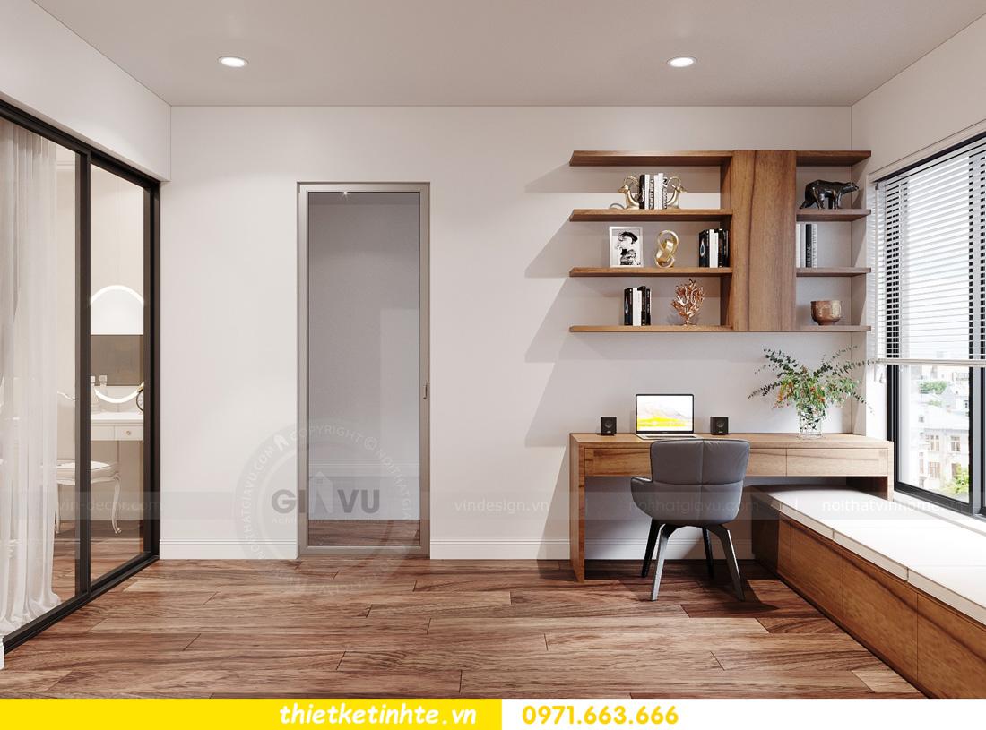 thiết kế nội thất chung cư ocean Park căn hộ 2 phòng ngủ 07