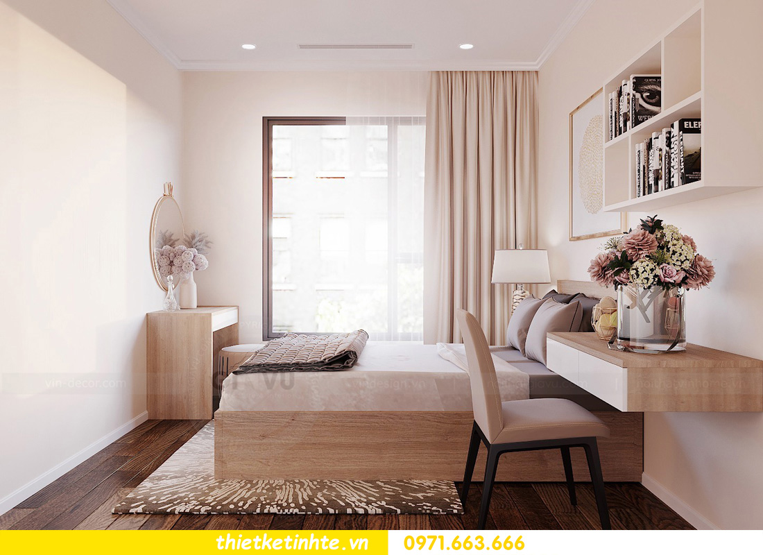 thiết kế nội thất chung cư Vinhomes Ocean Park đẹp hiện đại 09