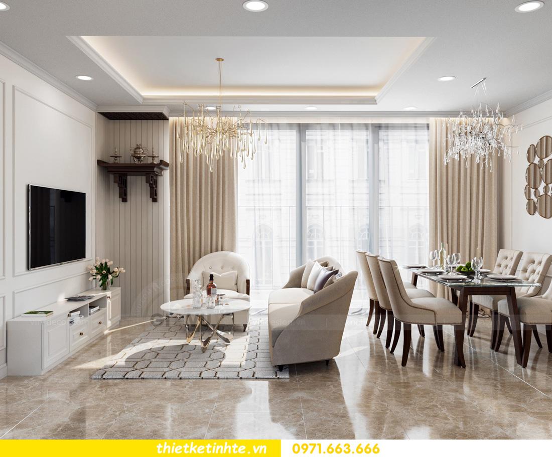 thiết kế nội thất chung cư Vinhomes Smart City nhẹ nhàng, hiện đại 04