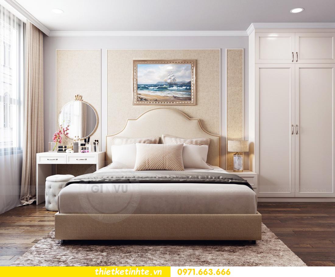 thiết kế nội thất chung cư Vinhomes Smart City nhẹ nhàng, hiện đại 05