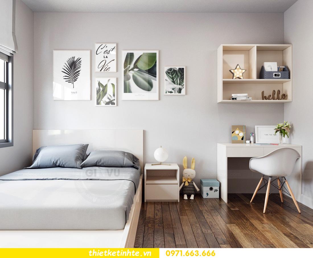 thiết kế nội thất chung cư Vinhomes Smart City nhẹ nhàng, hiện đại 07