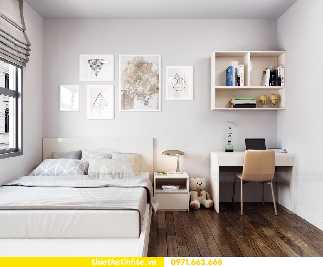 thiết kế nội thất chung cư Vinhomes Smart City nhẹ nhàng, hiện đại 09