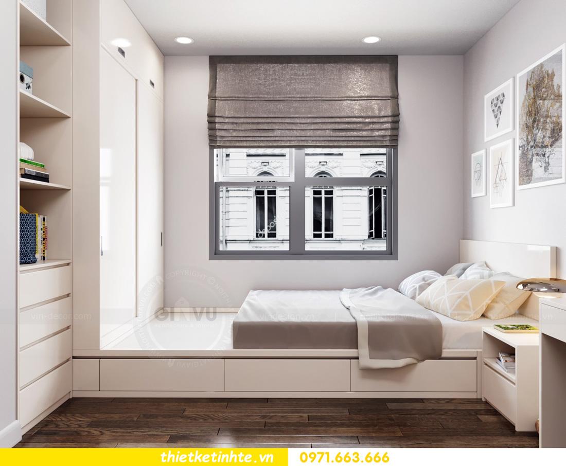 thiết kế nội thất chung cư Vinhomes Smart City nhẹ nhàng, hiện đại 10