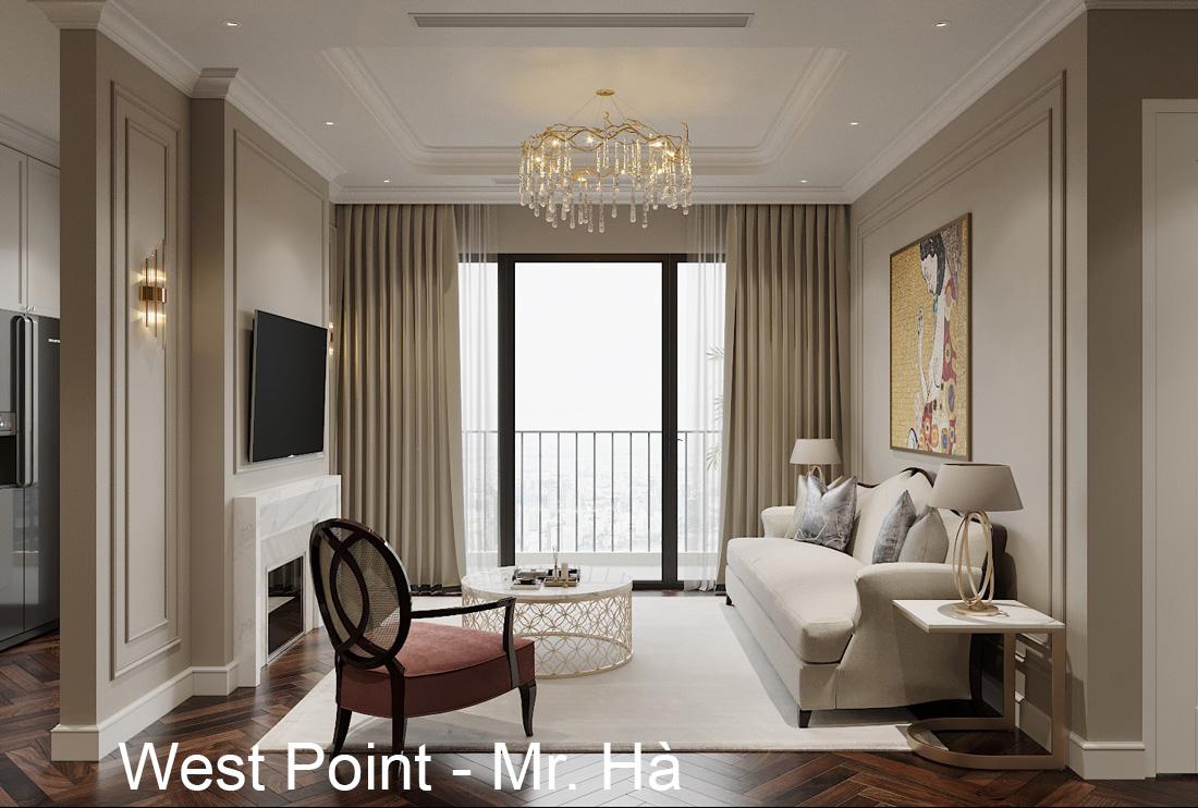 Thiết kế nội thất chung cư West Point tòa W3 căn hộ 05A anh Hà