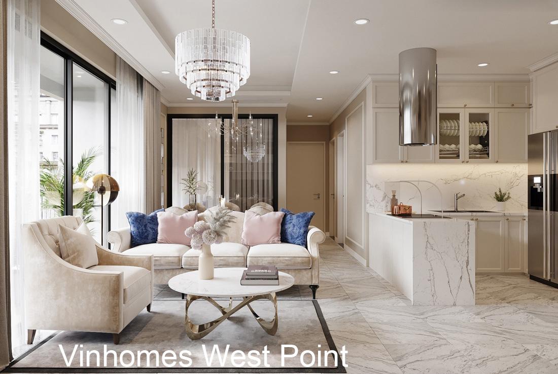 Thiết kế nội thất tại chung cư West Point hiện đại sang trọng