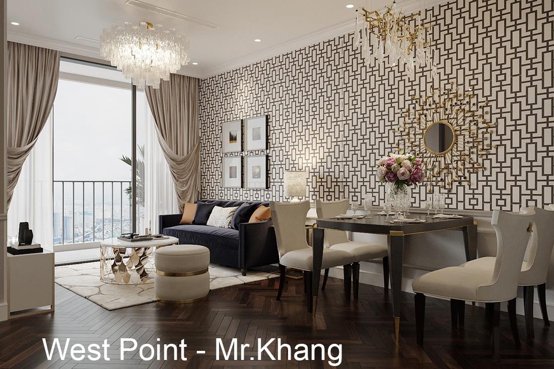 Nội thất chung cư West Point tòa W3 căn hộ 12 nhà anh Khang