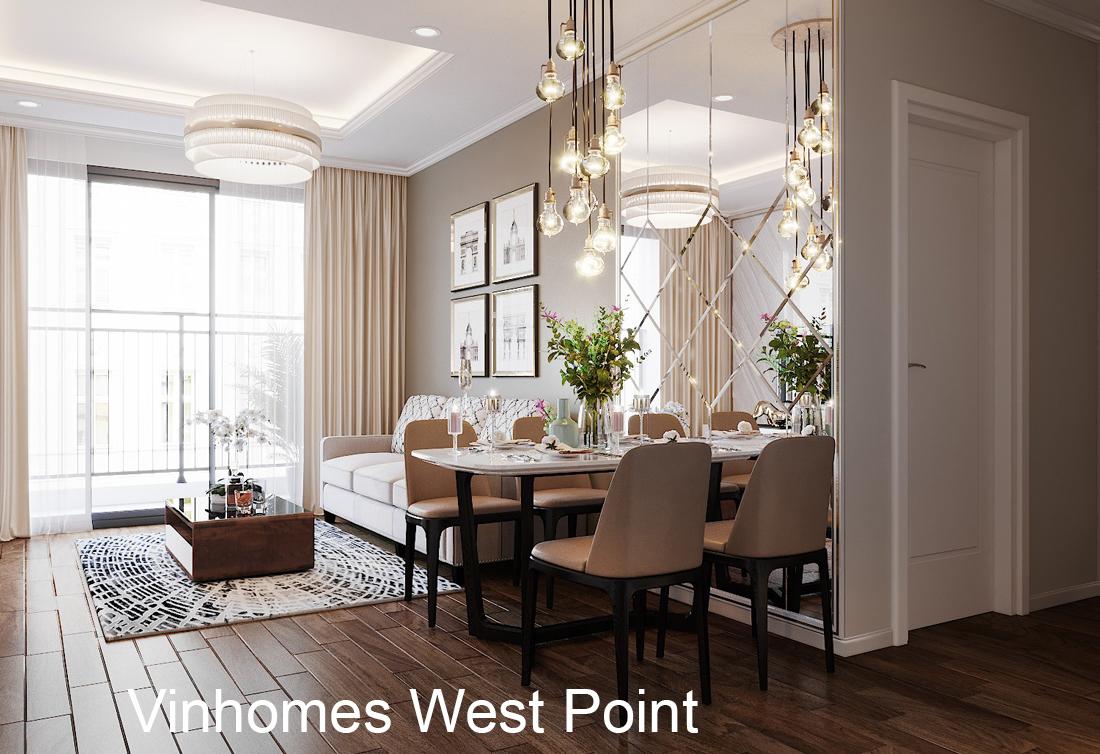 Thiết kế thi công nội thất West Point tòa W3 căn 08A chị Lệ