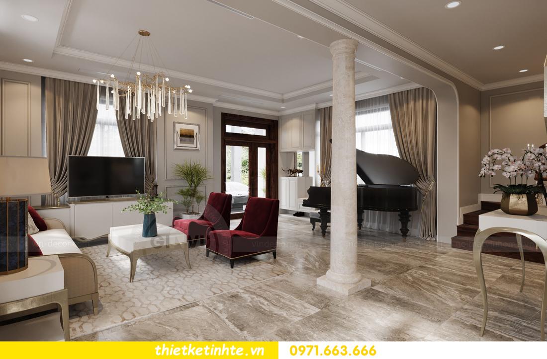 thiết kế nội thất biệt thự Vinhomes Green Villas Tây Mỗ - Anh Huy 01