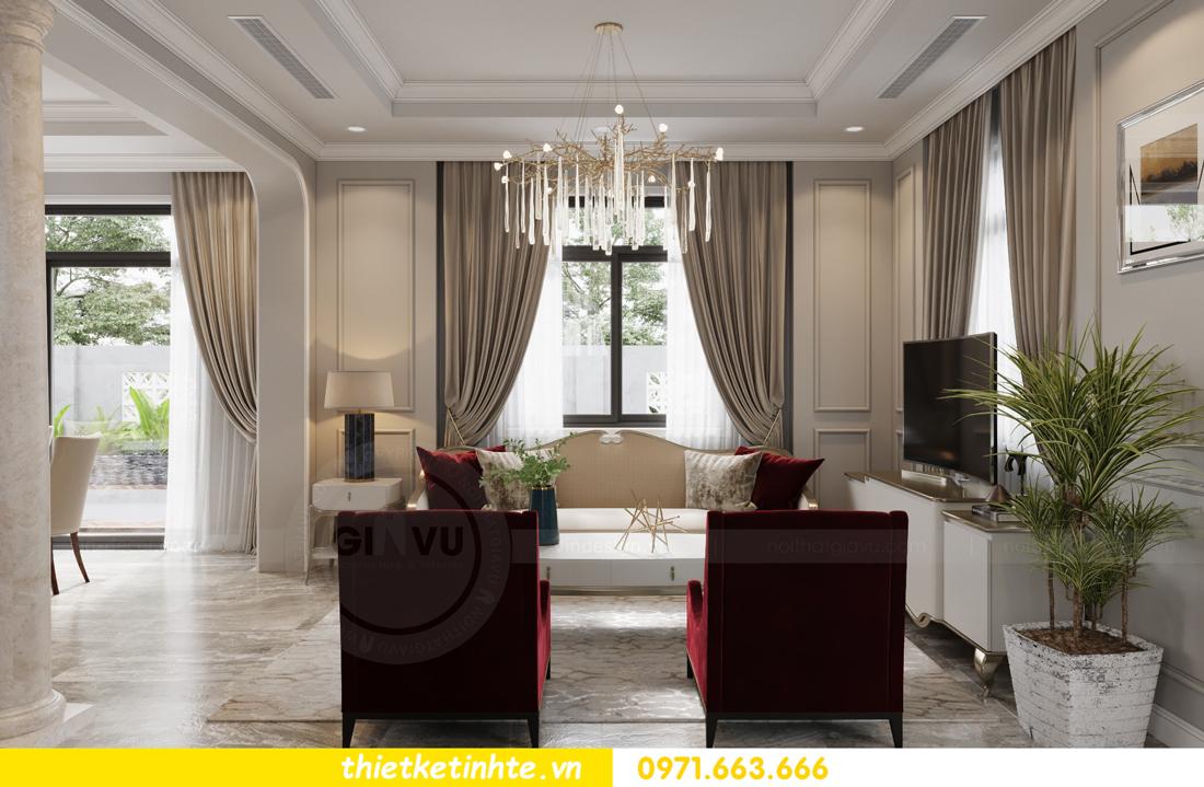 thiết kế nội thất biệt thự Vinhomes Green Villas Tây Mỗ - Anh Huy 04