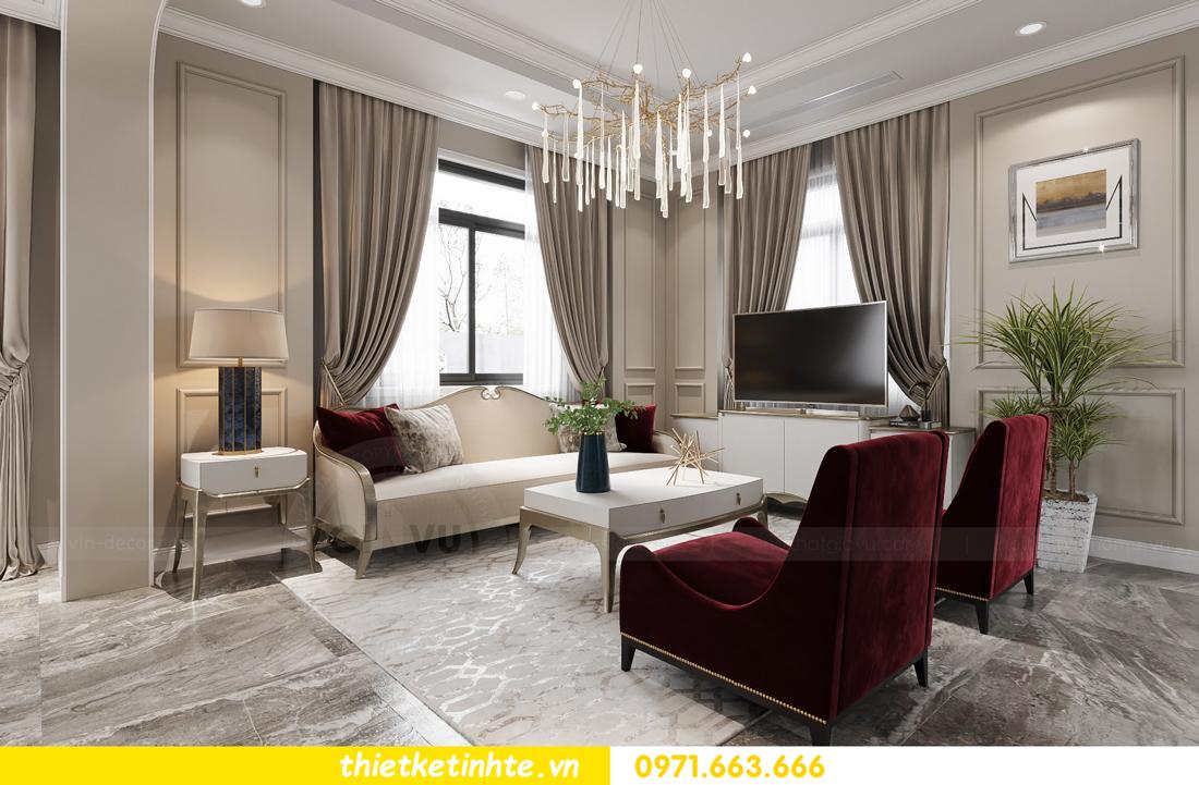 thiết kế nội thất biệt thự Vinhomes Green Villas Tây Mỗ - Anh Huy 05