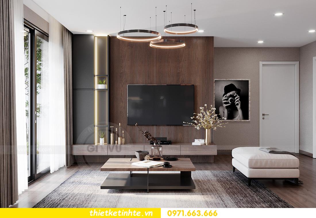 Thiết kế nội thất chung cư Smart City căn hộ 3 ngủ hiện đại 03