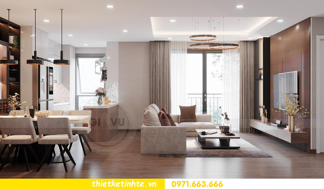 Thiết kế nội thất chung cư Smart City căn hộ 3 ngủ hiện đại 04