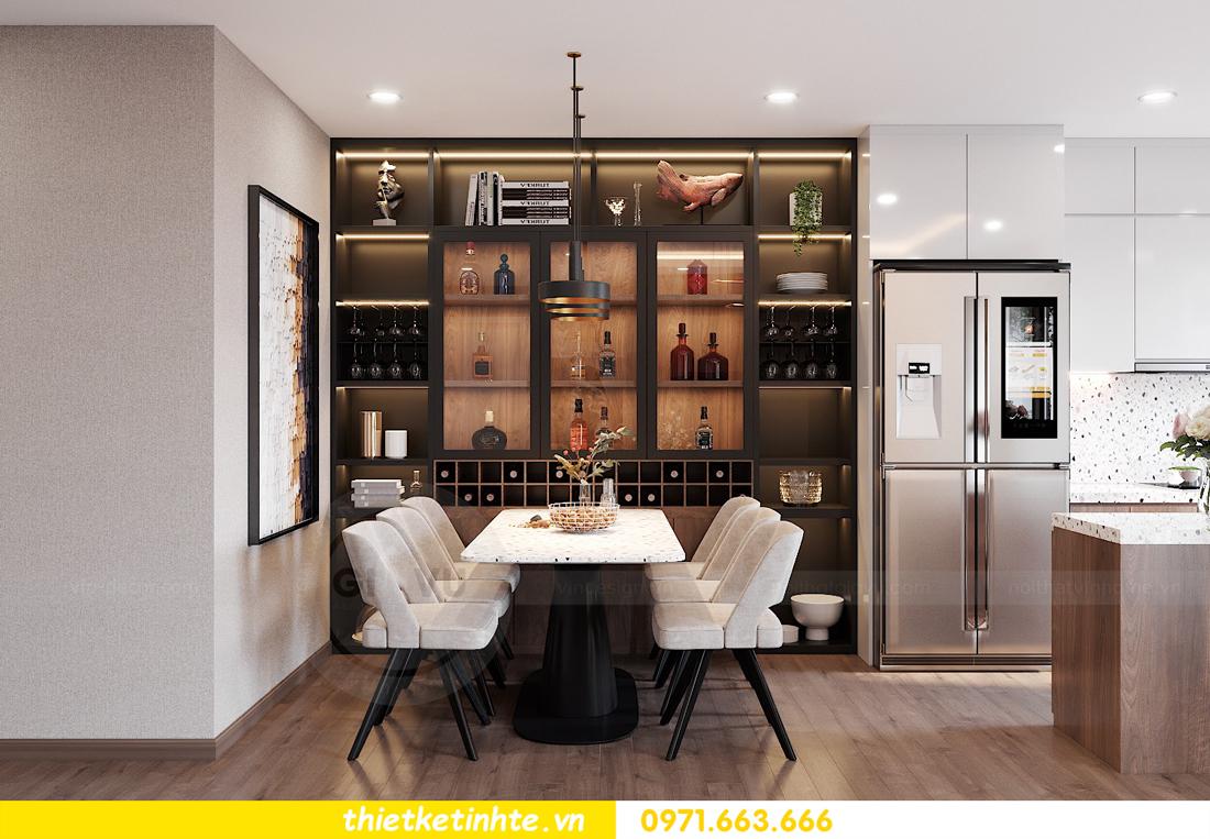 Thiết kế nội thất chung cư Smart City căn hộ 3 ngủ hiện đại 05