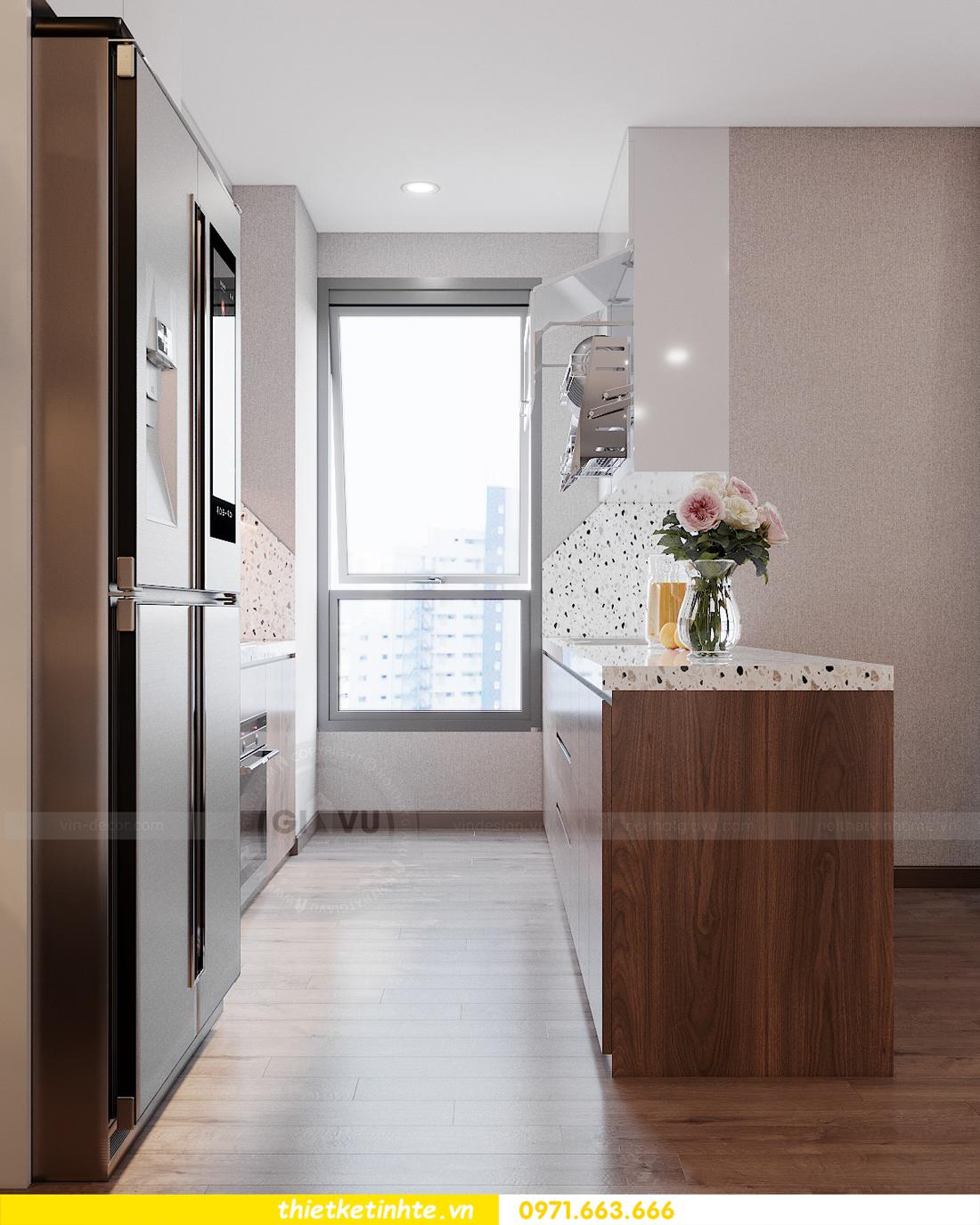Thiết kế nội thất chung cư Smart City căn hộ 3 ngủ hiện đại 06