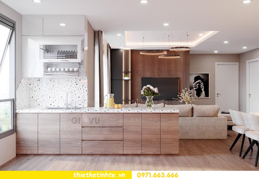 Thiết kế nội thất chung cư Smart City căn hộ 3 ngủ hiện đại 08