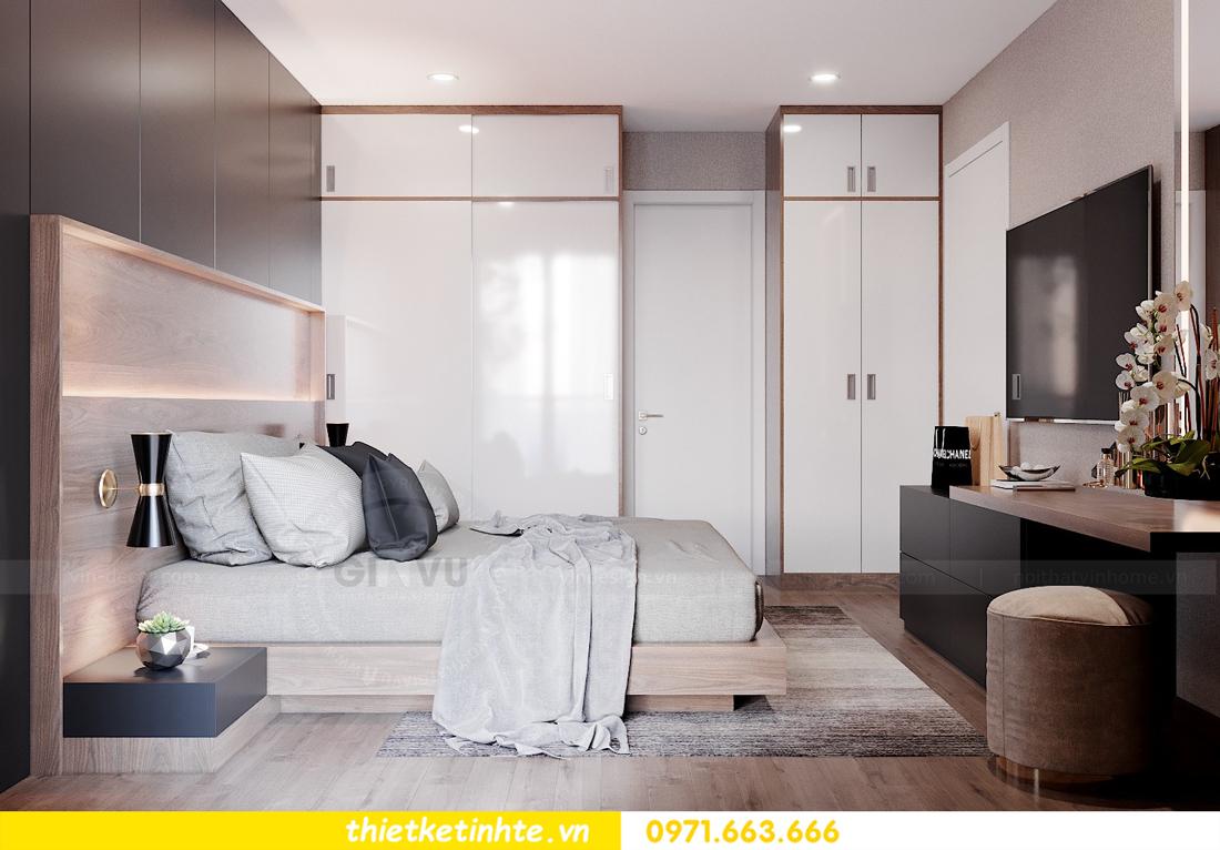 Thiết kế nội thất chung cư Smart City căn hộ 3 ngủ hiện đại 09