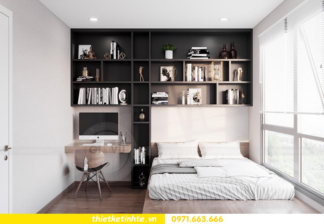 Thiết kế nội thất chung cư Smart City căn hộ 3 ngủ hiện đại 12