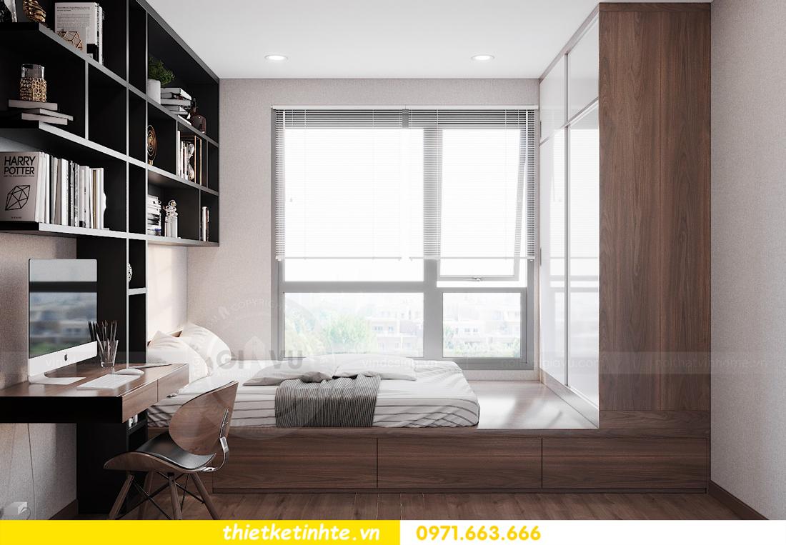 Thiết kế nội thất chung cư Smart City căn hộ 3 ngủ hiện đại 13