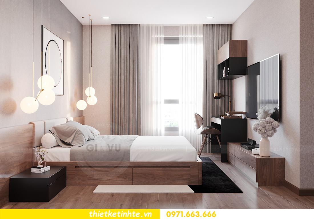 Thiết kế nội thất chung cư Smart City căn hộ 3 ngủ hiện đại 14