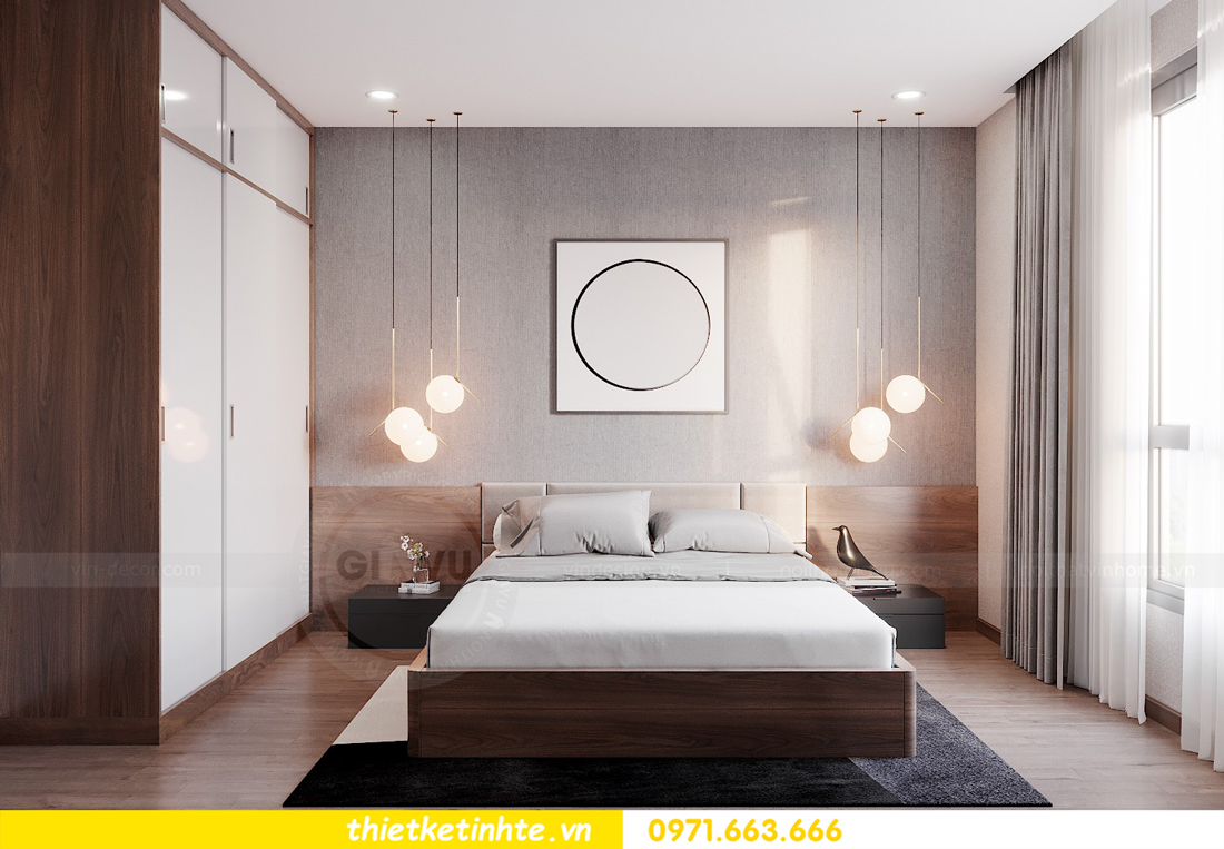 Thiết kế nội thất chung cư Smart City căn hộ 3 ngủ hiện đại 15