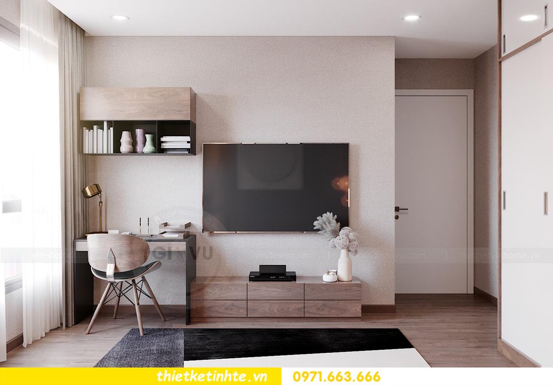 Thiết kế nội thất chung cư Smart City căn hộ 3 ngủ hiện đại 16