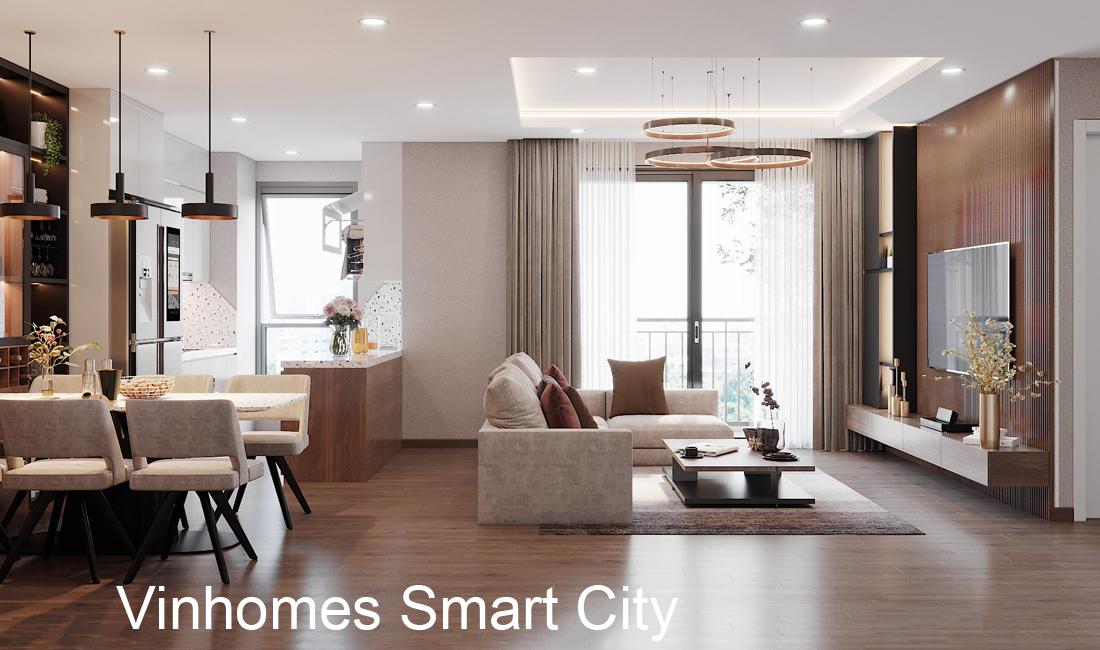 Thiết Kế Nội Thất Chung Cư Smart City Căn Hộ 3 Ngủ Hiện đại