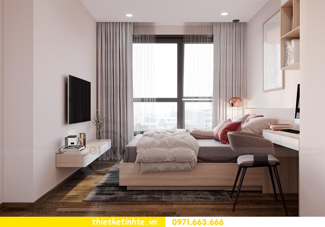 nội thất Vinhomes West Point 2 phòng ngủ hiện đại tối giản 8