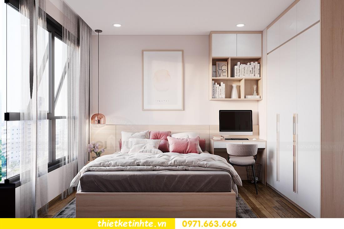 nội thất Vinhomes West Point 2 phòng ngủ hiện đại tối giản 9