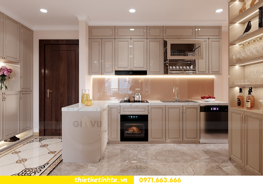 thiết kế nội thất căn hộ Vinhomes Smart City 3 phòng ngủ đẹp 02