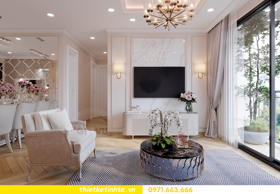 thiết kế nội thất căn hộ Vinhomes Smart City 3 phòng ngủ đẹp 05