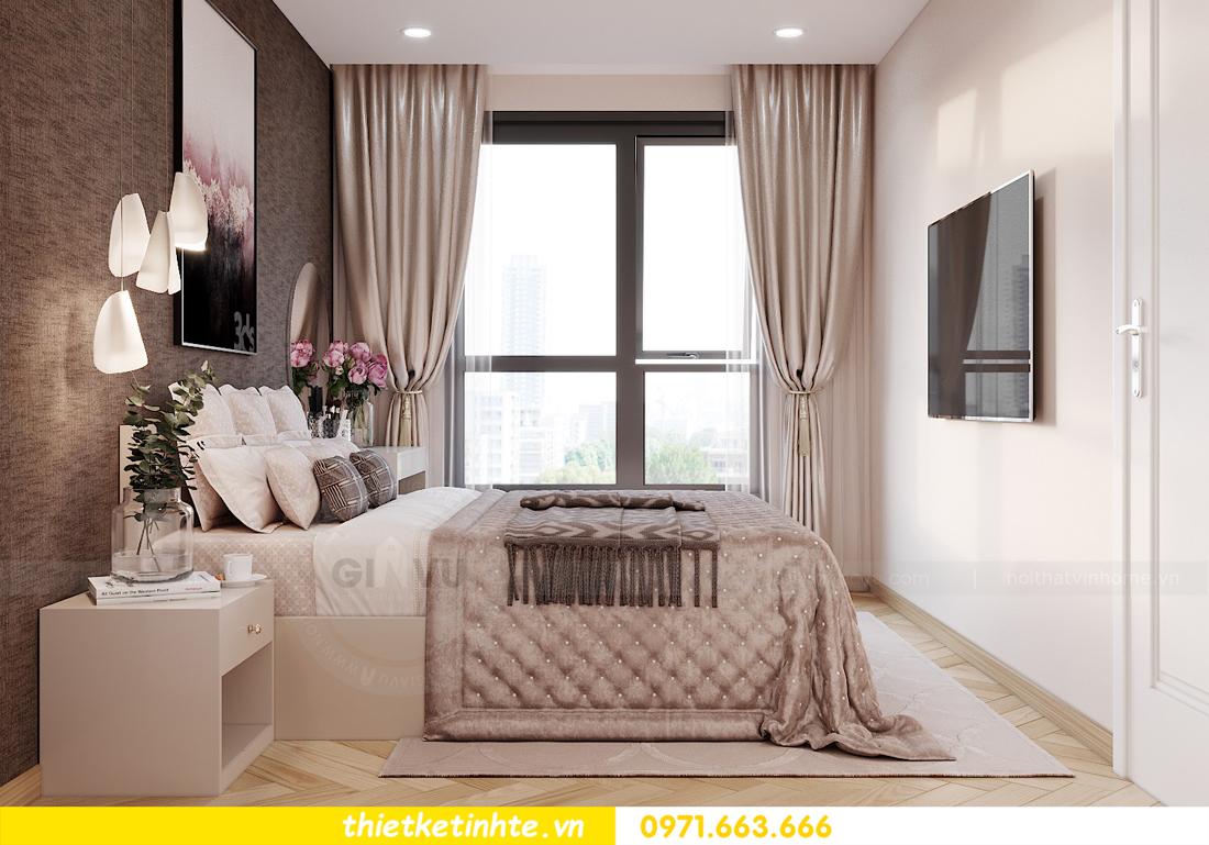 thiết kế nội thất căn hộ Vinhomes Smart City 3 phòng ngủ đẹp 07