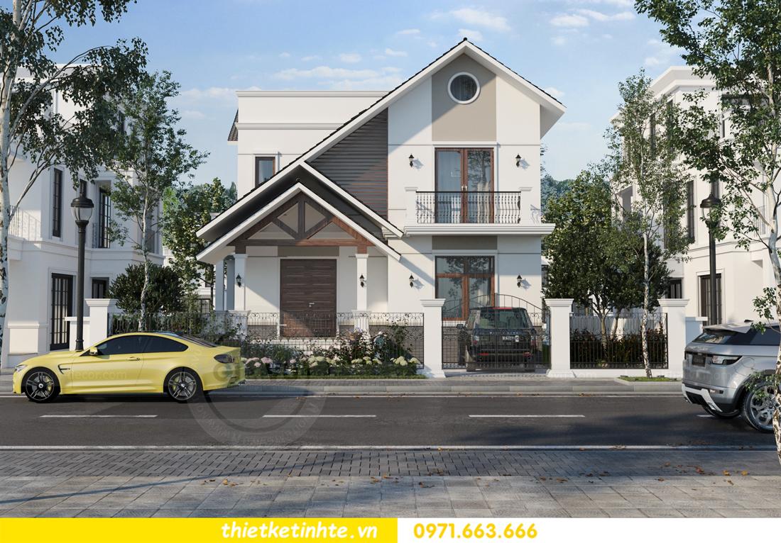 thiết kế kiến trúc biệt thự 2 tầng nhà anh Thanh 1