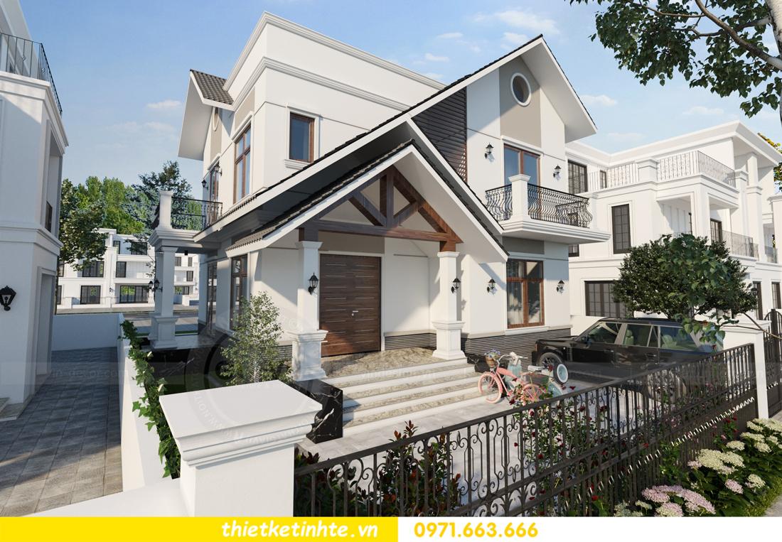 thiết kế kiến trúc biệt thự 2 tầng nhà anh Thanh 2