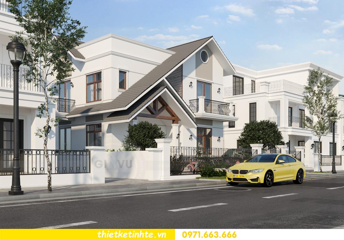 thiết kế kiến trúc biệt thự 2 tầng nhà anh Thanh 3